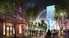 BK Bowl Vegas will be located at The LINQ- Caesars Entertainment's new half-billion dollar project in Las Vegas :: This is an artist's rendering of what the retail, dining and entertainment district (the LINQ) will look like.