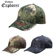 b64622684f233 Men Baseball Caps Soldier Army Tactical Sniper Camouflage Caps Camp Sun  Hike Hunt Traveling Hats CS