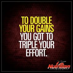 To double the #gains you got to triple your effort! #Pumpday #Humpday #workoutwednesday