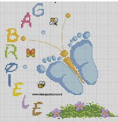 cross stitch pattern by on deviantART ❤️vanuska❤️ Baby Cross Stitch Patterns, Cross Stitch For Kids, Cross Stitch Baby, Cross Stitch Charts, Cross Stitch Designs, Baby Patterns, Diy Embroidery, Cross Stitch Embroidery, Embroidery Patterns