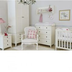 A Stunning And Beautiful White Nursery Furniture Set From Nordic Style.  This Swedish Nursery Furniture Is Made From Solid Beech And Birch Wood And  Built To ...