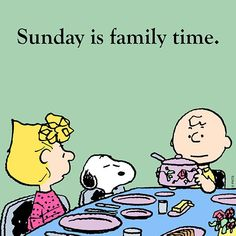 Sunday is family time. Charlie Brown and Snoopy Peanuts Gang, Die Peanuts, Peanuts Cartoon, Charlie Brown And Snoopy, Schulz Peanuts, Peanuts Comics, Cartoon Fun, Snoopy Love, Snoopy And Woodstock