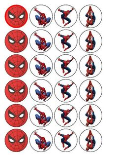 Resultado de imagem para free printable cupcake wrappers and toppers with spiderman Spiderman Theme Party, Superhero Birthday Party, 6th Birthday Parties, Birthday Fun, Spiderman Birthday Ideas, Spiderman Cupcake Toppers, Party Poster, Cupcake Wrappers, Google Visit