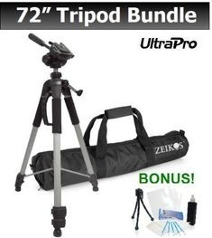 UltraPro 72-inch TRIPOD For Select Sony Digital Cameras. UltraPro Bundle Includes: Mini Travel Tripod, LCD Screen Protector, Camera Cleaning Package UltraPro http://www.amazon.com/dp/B00QVU8X7U/ref=cm_sw_r_pi_dp_3jJYwb19P5HRT