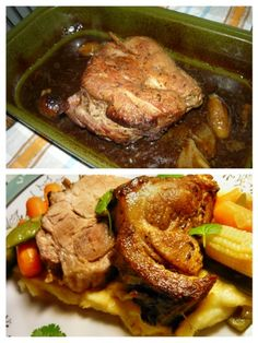 Staročeská pečená krkovička (fotorecept) - obrázok 3 Ale, Steak, Pork, Kale Stir Fry, Ale Beer, Steaks, Pork Chops, Ales, Beer