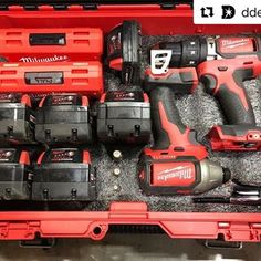Now that's a packed out PackOut! ・・・ Picked up one of the new foam pack outs a while back from Power Tool Storage, Garage Tool Storage, Garage Tools, Garage Ideas, Trailer Storage, Milwaukee Cordless Tools, New Milwaukee Tools, Hvac Tools, Dewalt Tools