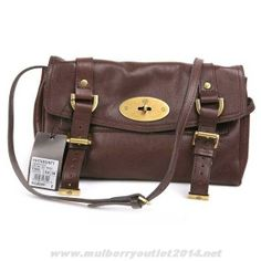 be5c46f7ad MK 2014 Womens Mulberry Medium Big Bryn Shiny Grained Leather Satchel Light  Coffee For Wholesale