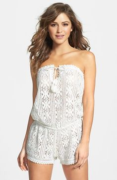 $50.00.  But sold out here.... O'Neill 'Jaden' Crochet Cover-Up Romper available at #Nordstrom