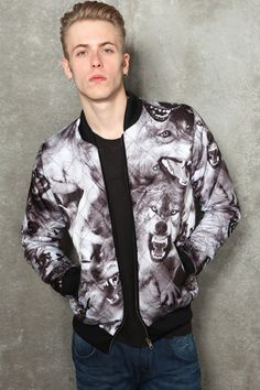 Blood Brother Quilted Wolf Jacket.   180.00£