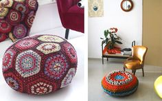 Decofilia Blog   Pufs de trapillo: Lo último en decoración DIY