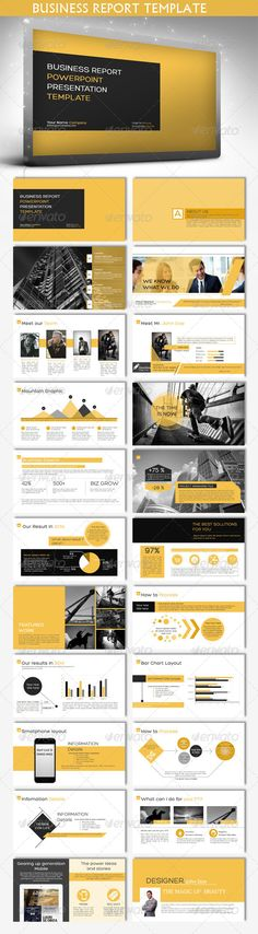 Business Report Powerpoint Template (Powerpoint Templates) #Powerpoint #Powerpoint_Template #Presentation