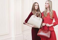 TWIN-SET Simona Barbieri: bag with heart shaped motif and medium bauletto bag with heart shaped motif