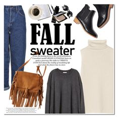 """""""Cozy Fall"""" by dian-lado ❤ liked on Polyvore featuring Loeffler Randall, Boutique, The Row, American Eagle Outfitters, H&M, Bobbi Brown Cosmetics, Givenchy and Clé de Peau Beauté"""