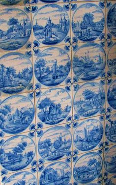 Fireplace Delft tiles