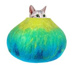 Felted Cat Nap Cocoon...