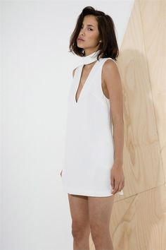 Say It Right Dress In Ivory By C Meo Collective