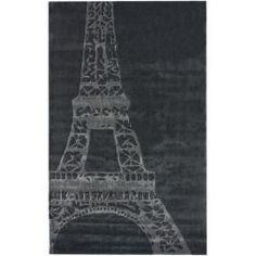 @Overstock - A fun, playful pattern and bold colors makes up this fabulous kid's Eiffel Tower rug. Add this rug to a bedroom or play room to keep your carpet or flooring in good shape.http://www.overstock.com/Home-Garden/Handmade-Luna-Deco-Kids-Eiffel-Tower-Rug-5-x-8/6143361/product.html?CID=214117 $200.99