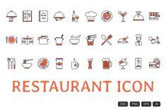 All Icon, Icon Set, Orange Color Schemes, Restaurant Icon, Envato Elements, Simple Icon, Glyph Icon, Best Icons, Home Icon