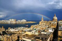 Rainbow over Malta