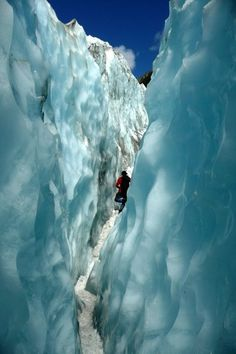 Franz Crevasse-New Zealand