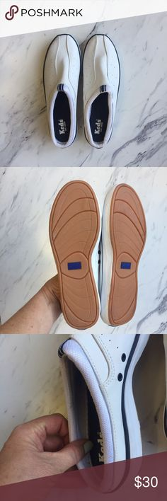 keds leather slip on mule