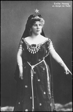 vintage Queen of the Night photo from The Magic Flute