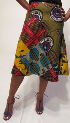 African Print Mix Skirt by ifenkili on Etsy, $30.00...please check out my friends store on Etsy, she has wonderful pieces at great prices!