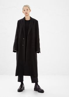Haider Ackermann slim lapel coat and Ann Demeulemeester platform derby, Totokaelo. Frock And Frill, Haider Ackermann, New Look, Your Style, Normcore, Street Style, Fashion Outfits, Ann Demeulemeester, How To Wear