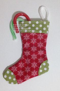 Fabric - Christmas Tree Stocking  Stampin' Up! Bigz Holiday Stocking and Stampin' Up! Fabric!