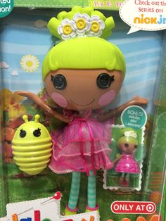 Lalaloopsy Pix E Flutters Button Doll 12 Inch Green Firefly Pet Fairy Neww. Style: Pix E Flutters. Description: Pix E. Flutters was once a rag doll who magically came to life when her very last stitch was sewn.