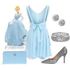 """Cinderella Disney Princess Prom Outfit"" by natihasi on Polyvore"