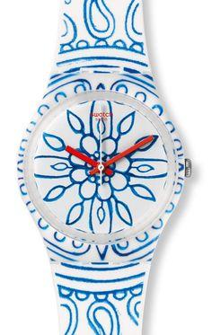 Reloj Swatch mujer Blue Poetry GW171