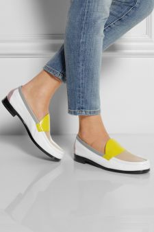 Pierre Hardy|Color-block leather loafers