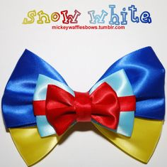 NEED for my next trip to Disney!!    Snow White Hair Bow by MickeyWaffles on Etsy, $8.00