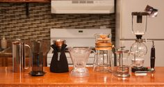 Immersion brew methods. Clever, french press, aeropress, siphon, cafe solo
