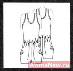 jumpsuit vykroyka_kombinezona_s_shortami_vykroyka con pantalones cortos