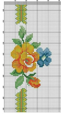 Cross Stitch Rose, Cross Stitch Flowers, Palestinian Embroidery, Cross Stitch Collection, Knit Patterns, Diy And Crafts, Weaving, Knitting, Canvas