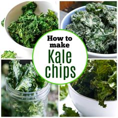 If you& ever wondered how to make kale chips we have you covered with this roundup. Learn how to make kale chips and find different tasty flavors. Healthy Movie Snacks, Vegetarian Snacks, Eat Healthy, Healthy Living, Kale Chip Recipes, Veggie Recipes, Roasted Kale Chips, Cheesy Kale Chips, How To Make Kale