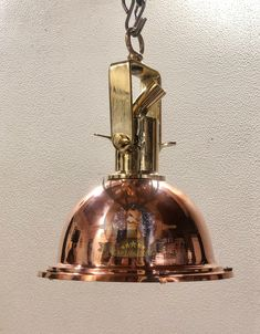 Nautical Replica Marine Cargo Smooth Copper & Brass Pendant/Ceiling/Mount Light Lot Of 2 Ceiling Mounted Light, Nautical Lighting, Nautical Marine, Brass Pendant Light, Hanging Lights, Copper, Smooth, Antiques, Confidence