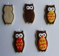 Royal Icing Tutorial Owl Sugar Cookies {tutorial} | Sweet Desserts