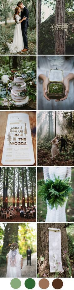 Create magical memories with a beautiful enchanted forest wedding palette for…