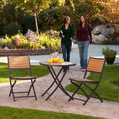 Lifetime 3-Piece Folding Patio Bistro Set-60074U - The Home Depot