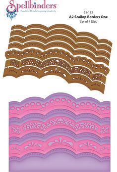 JustRite Papercraft A2 Scallop Borders One Dies