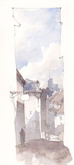 UNE FENÊTRE SUR LE PAYSAGE Je reviens d'un stage dans les rues de Lyon. Il est toujours aussi agréable de se promener dans les rues du ...