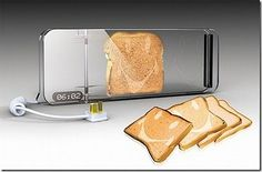 """""""Designer Xu Yan Xiang wanted to put a smile on your toast so he came out with the Smile Cooking Toaster. It is a clear clip shaped toaster with timer display (with heat control). Kitchen Utensils, Kitchen Tools, Kitchen Appliances, Kitchen Decor, Kitchen Stuff, Crazy Kitchen, Awesome Kitchen, Kitchen Things, Kitchen Products"""