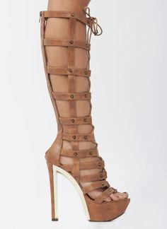 Crown Vintage Annika Womens Size 9.5 Brown Faux Leather Gladiator