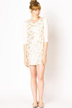 Silk Scalloped Dress | a-thread