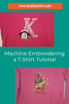 Today, with modern sewing and embroidery machines, you can personalize, monogram and add designs to t-shirts in the comfort of your own home. Embroidery Machines, Machine Embroidery Projects, Types Of Embroidery, Embroidery Applique, Embroidery Designs, Fun Projects, Sewing Projects, T Shirt Tutorial, Types Of Craft