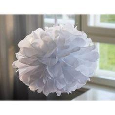 Kattoon: Pom pom silkkipaperikukka 35 cm / valkoinen