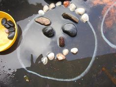 Exploring Through Play: Exploring with natural materials Part 1 - loose parts faces in the rain